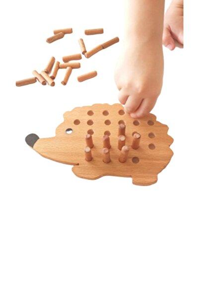 Moccotoys Tak Çıkar Ahsap Kirpi & Montessori