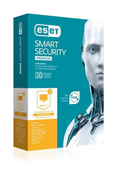 ESET Smart Securıty Premıum Kutu 3 Kullanıcı