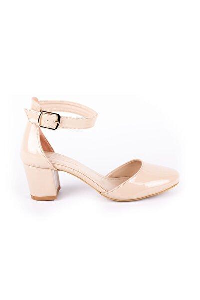 DİVUM Kadın Ten Rugan Topuklu Ayakkabı 07376
