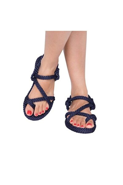 Nomadic Republic Kadın Lacivert  Halat Ve İp Sandalet