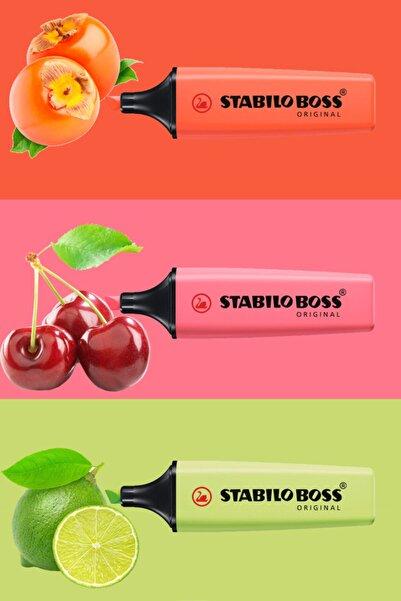 Stabilo Yeni 3'lü Pastel Renkler Işaretleme Kalemi Seti
