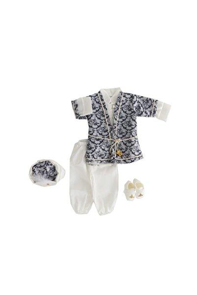 Miniworld Erkek Bebek Beyaz Gri Pon Pon Mevlüt Seti