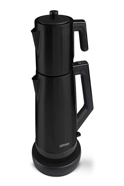 GOLDMASTER Gm-7344s Akasya Çelik Çay Makinesi - Siyah