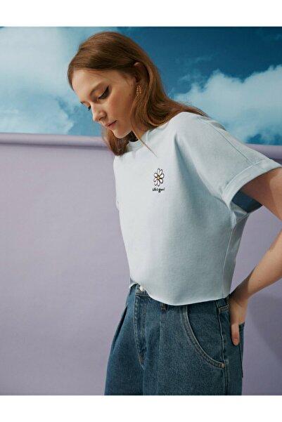 Koton Kadın Mavi T-shirt 0YAL18863IK