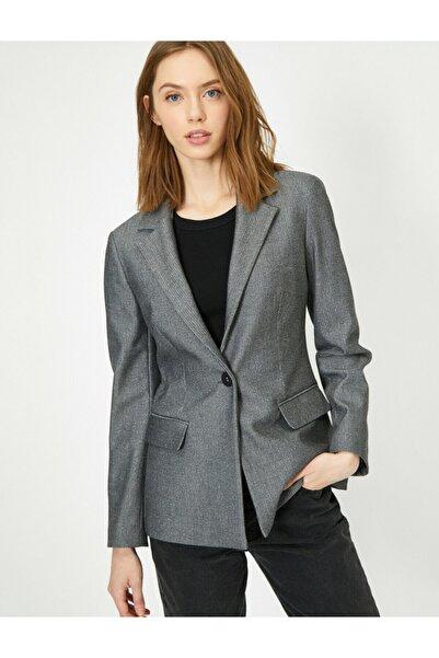 Koton Kadın Gri Ceket