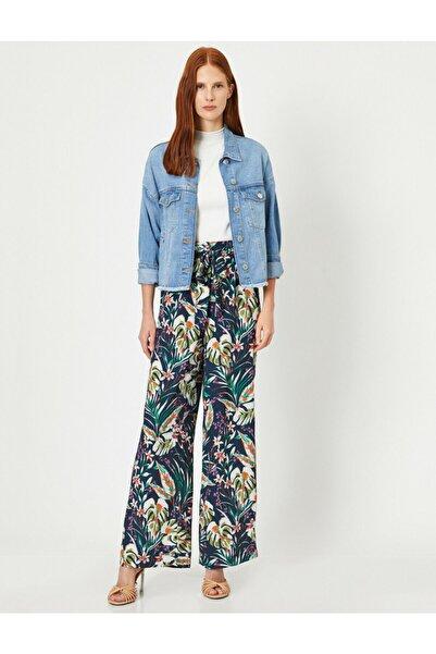 Kadın Lacivert Desenli Pantolon 0YAK48468CW