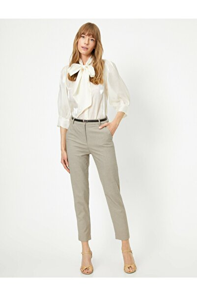Koton Kadın Kemerli Slim Fit Pantolon