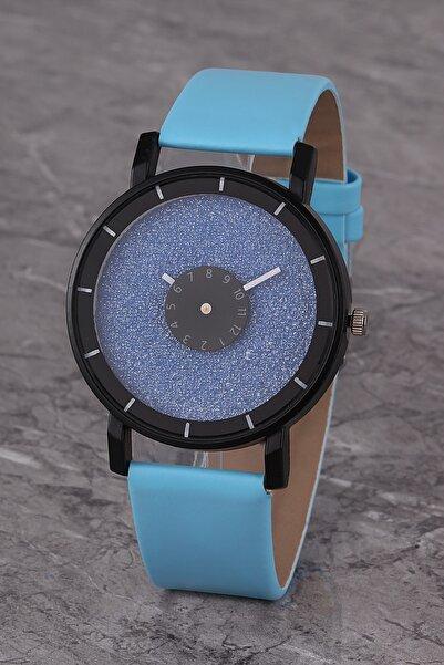 Polo55 Plkk017r06 Kadın Saat Mavi Tasarım Kadran Deri Kordon