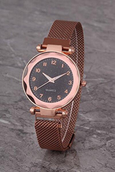 Plkhm014r04 Kadın Saat Rose Numaralı Prizma Kadran Mıknatıslı Hasır Kordon