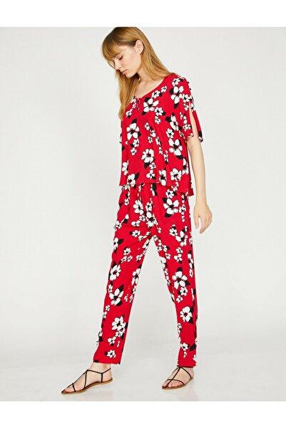 Kadın Kırmızı Pantolon 8YAK42864UW