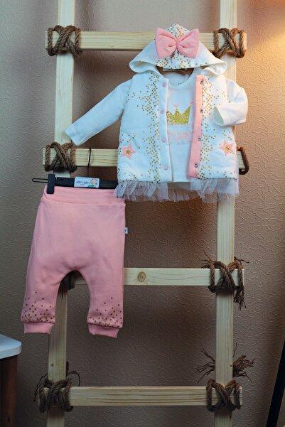 İmaj Kız Bebek Çocuk 3 Parça Takım Altın Yıldız Serisi %100 Pamuk