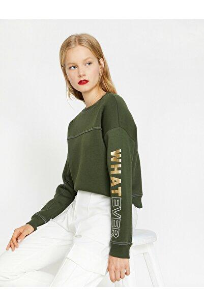 Kadın Yeşil Sweatshirt 0KAL18478IK