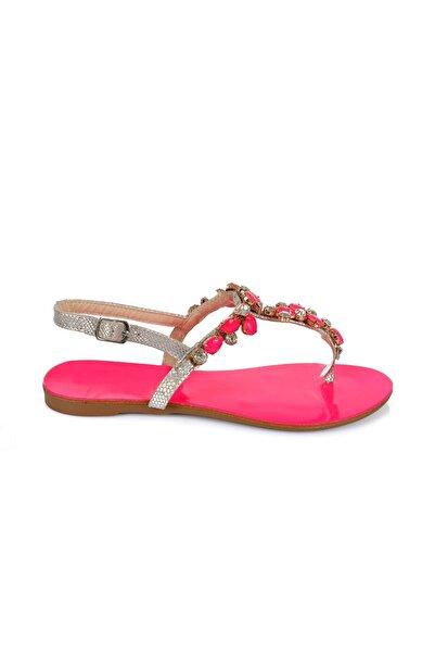 Oblavion Rio Pinky Taşlı Sandalet