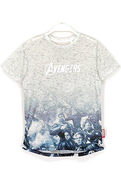 MARVEL Erkek Çocuk Ekru Avengers The Engame Baskılı T Shirt