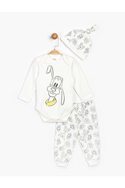 Mickey Mouse Bebek Ekru Disney Bebek Takım 16187