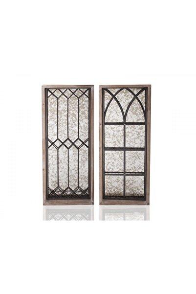 Cemile Ahşap Pencereli 2'li Duvar Panosu
