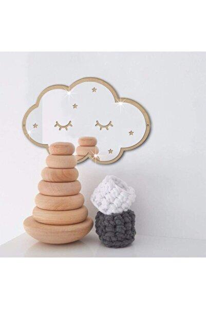 13 Aksesuar Dekoratif Bulut Çocuk Odası Duvar Aynası