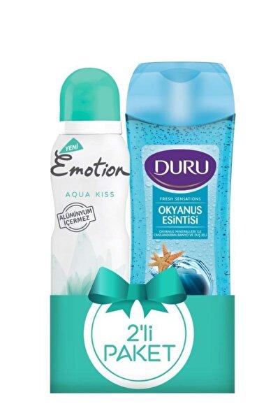Emotion Deodorant Aqua Kiss 150ml +duru Duş Jeli Okyanus Esintisi 250ml