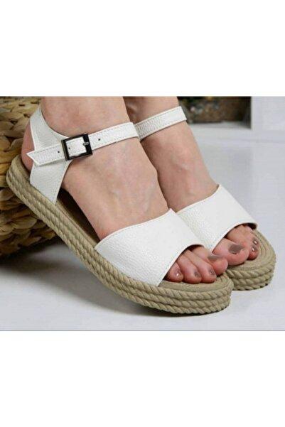Osse Kadın Beyaz Tek Bant Sandalet