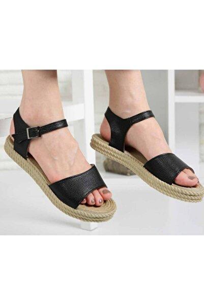 Osse Kadın Siyah Tek Bant Sandalet