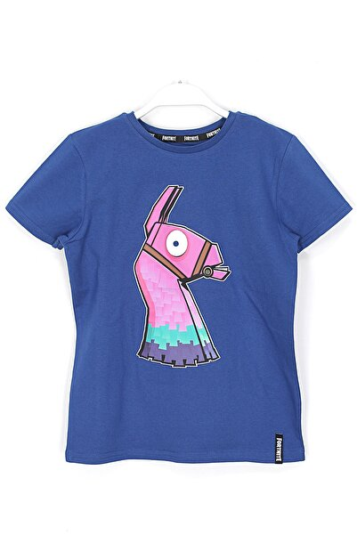 Fortnite Çocuk Lacivert Baskılı T Shirt