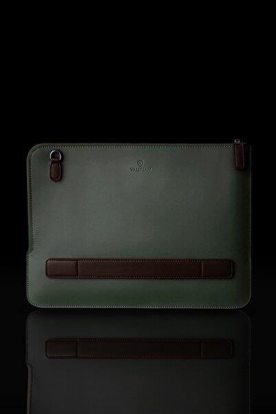 Valerian Unisex Haki Yeşili Laptop Evrak Çantası