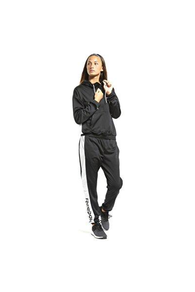 Reebok Linear Logo Hoodie Ts Kadın Siyah Antrenman Eşofman Ft0918