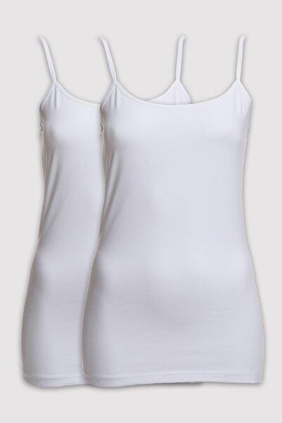 Pierre Cardin Kadın Beyaz 2li Paket Askılı Atlet