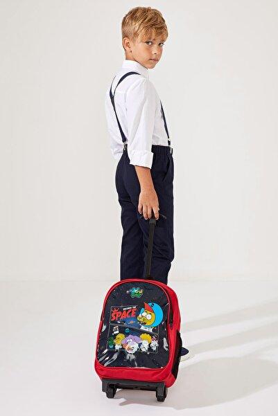 DeFacto Erkek Çocuk Kral Şakir Lisanslı Çekçekli Okul Çantası