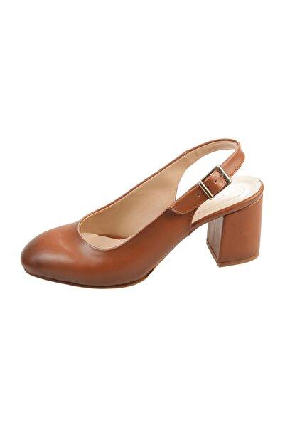 PUNTO Kadın Taba Renk Kısa Topuk Ayakkabı