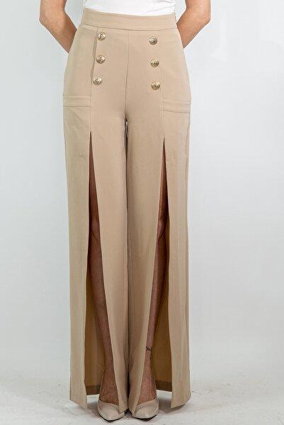 Lefon Önden Yırtmaçlı Pantolon