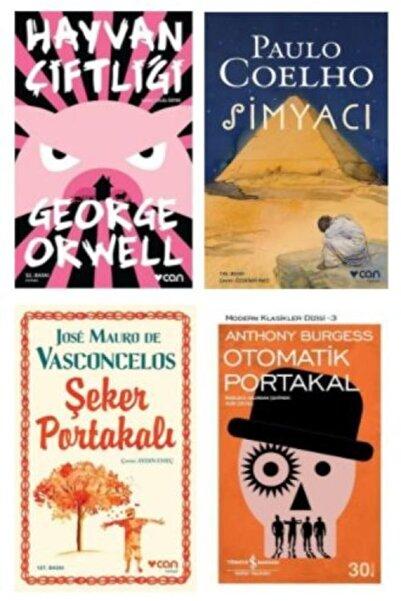Can Yayınları Hayvan Çiftliği + Simyacı + Otomatik Portakal + Şeker Portakalı 4 Kitap