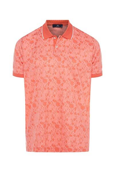 Bisse Erkek Nar Çiçeği Regular Fit Desenli Polo Yaka T-Shirt