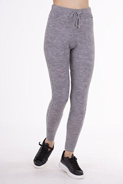 STAMINA Kadın Gri Premium Tayt Pantolon-4ız07