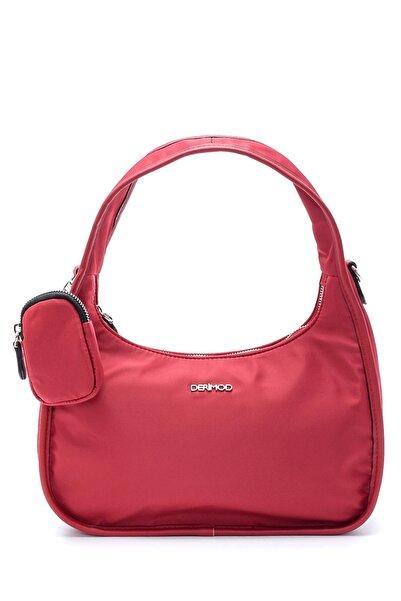 Derimod Kadın Kırmızı Bozuk Para Cüzdanlı Baget Çanta