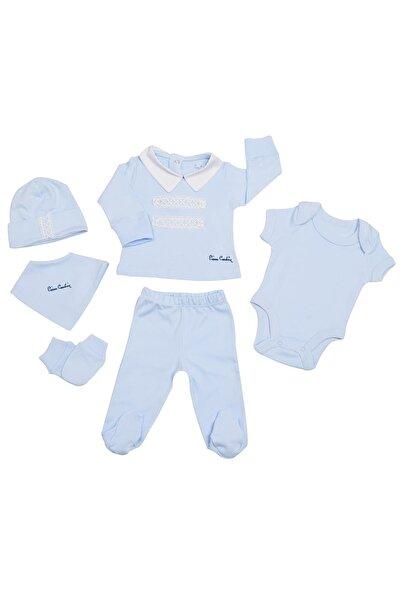 Pierre Cardin Baby Pierre Cardin Dantelli Düğmeli Yenidoğan Takımlı Bebek Seti Mavi