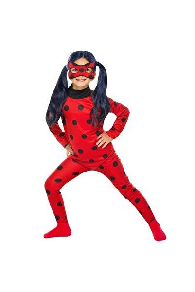 Zeki Karga Kız Çocuk Çocuk Maskeli 7  8 Yaş Lady Bug Uğur Böceği Kostümü