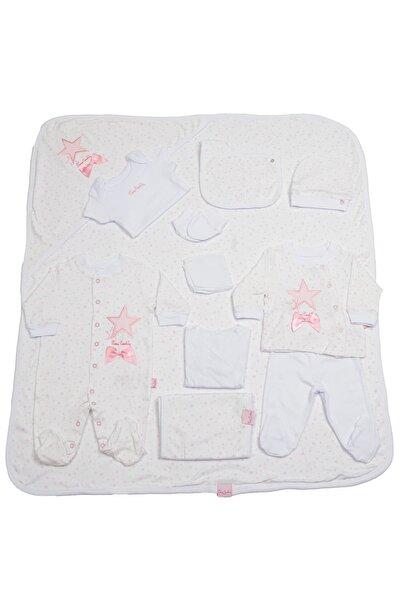 Pierre Cardin Baby Pierre Cardin Bebek Giyim 10'lu Hastane Çıkış Seti Yıldızlı Pembe