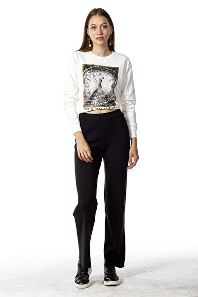 Coral 92012 Bol Paça Triko Pantolon Siyah