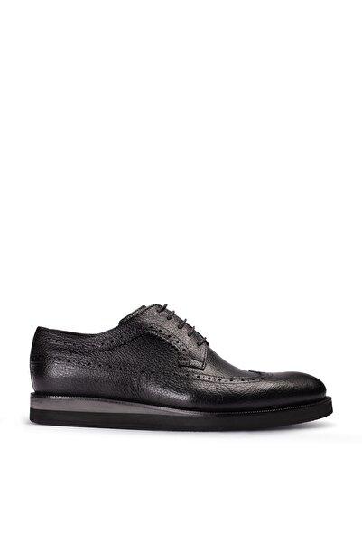 Deery Erkek Siyah Hakiki Deri Günlük Ayakkabı