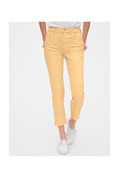 GAP Kadın Sarı High Rise Straight Jean Pantolon