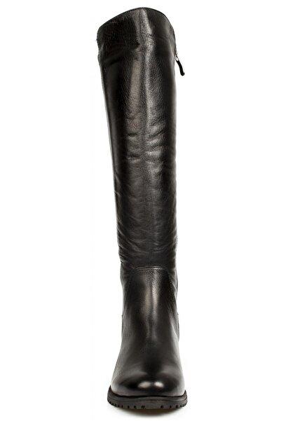 Mammamia Kadın Siyah Deri Çizme D20kc-2040
