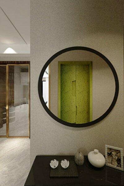 fatma keskinoğlu ikizler çeyiz Wendy Dekoratif Konsol Aynası Mat Siyah 46 cm