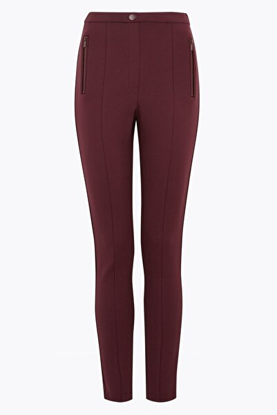 Marks & Spencer Kadın Mor Jarse Skinny Pantolon T59005972