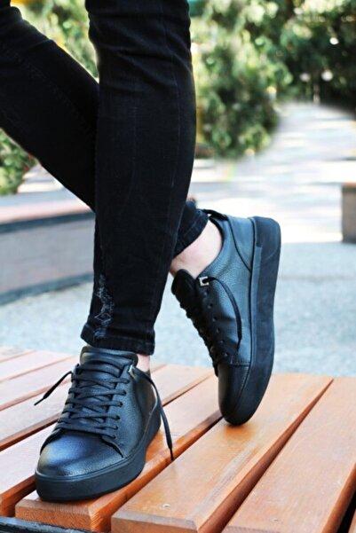Etap Erkek Siyah Puspet Poli Hafif Taban Spor Ayakkabı