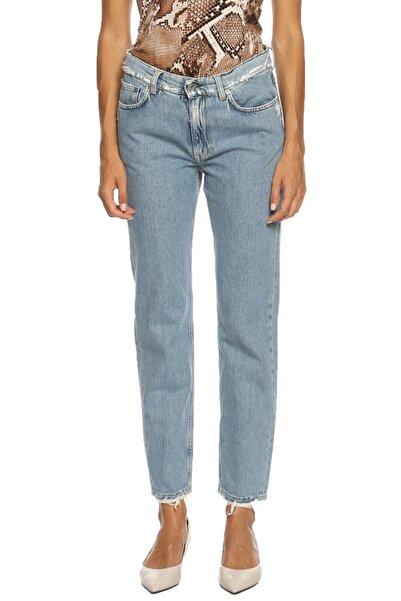 Acne Studios Kadın Mavi Jean Pantolon