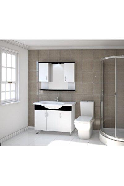 Kare Banyo Kare Trend Serisi 100 Cm Mdf Banyo Dolabı Takımı+seramik Lavabo