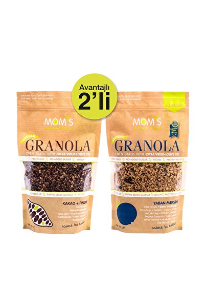 Mom's Natural Foods 2'Lİ GRANOLA - YABANMERSİN'İ 360 gr - KAKAO FINDIK 360 gr