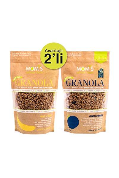 Mom's Natural Foods 2'Lİ GRANOLA - YABANMERSİNİ 360 gr - MUZ CEVİZ 360 gr