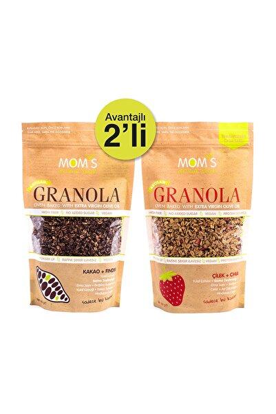 Mom's Natural Foods 2'Lİ GRANOLA - ÇİLEK CHIA 360 gr - KAKAO FINDIK 360 gr